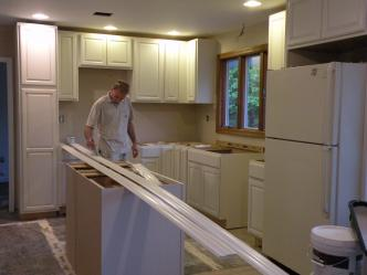 Cabinets in - Prepping crown molding