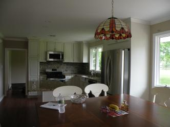 Finished Dining Room and Kitchen