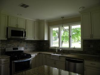 Finished Kitchen - Granite Countertops
